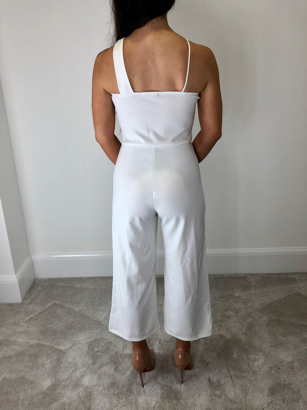 White Cross Over Jumpsuit