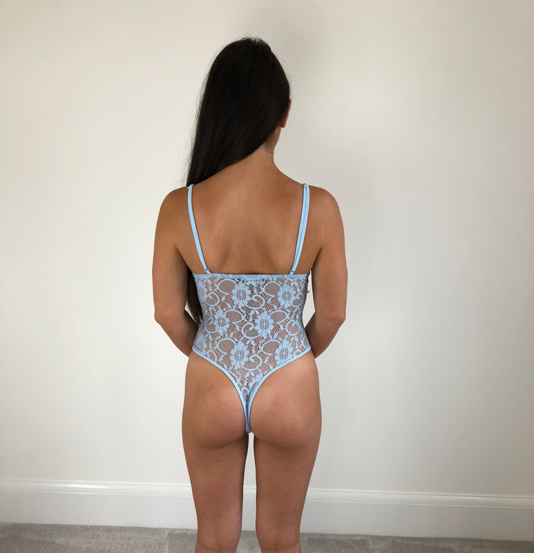 Powder Blue Lace Bodysuit