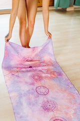 Seven Chakra Art Yoga/ Travel / Beach Towel | Batikarma Limited Edition Towels from recycled materials, soft touch, super absorbent