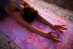 Seven Chakra Art Yoga/ Travel / Beach Towel | Batikarma Limited Edition Towels from recycled materials, 10% goes to ocean conservation projects