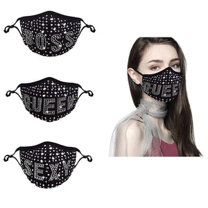 **NEW** SEXY QUEEN BOSS Rhinestone Mask