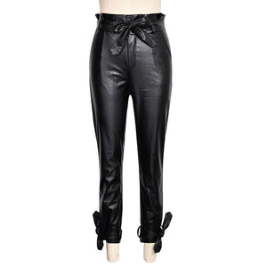 **NEW** Black Knight Leather Two Piece Women's Pants Set