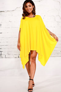Sunshine Yellow Poncho Coverup