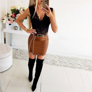 **NEW** Women's Hot and Sexy Above the Knee Skirt