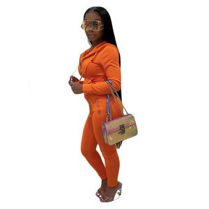 **NEW** Women's Sporty Active Wear Set with Solid Colors