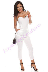 White Sleevess Romper, Jumpsuit, Playsuit