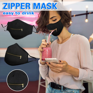 **NEW** Adult Fashion Reusable Washable Mask with Front Zipper