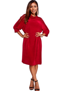 Butterfly Red Cutout Sleeve Dress