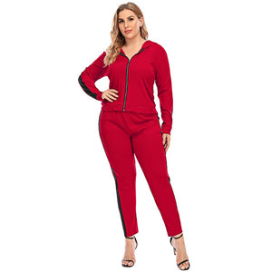 **NEW** Plus Size 2-Piece Casual Tracksuit