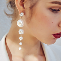 Felicity Long Pearls Earrings