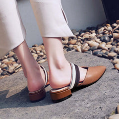 Retro Ribbon Flat Mules