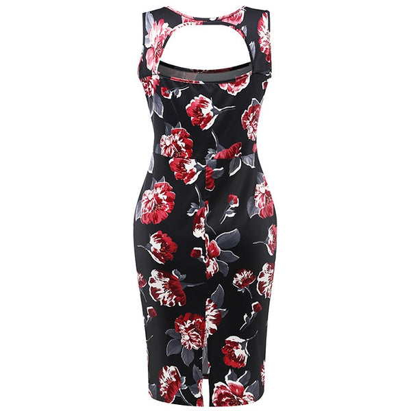 Bloomy Bodycon Dress