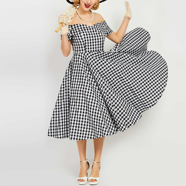 Plaid Retro Dress