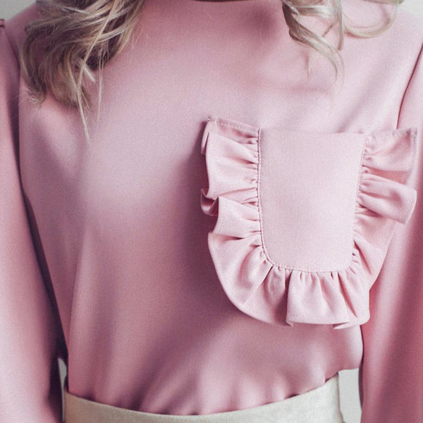 Tess Ruffle Pocket Blouse