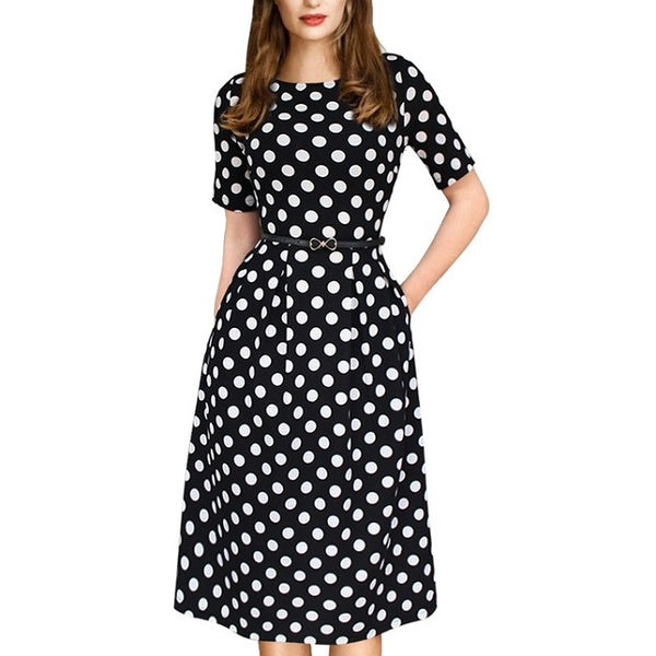 Natalie Polka Dot Dress