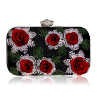 Embroidery Roses Clutch