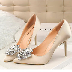 Rhinestone Satin Stiletto