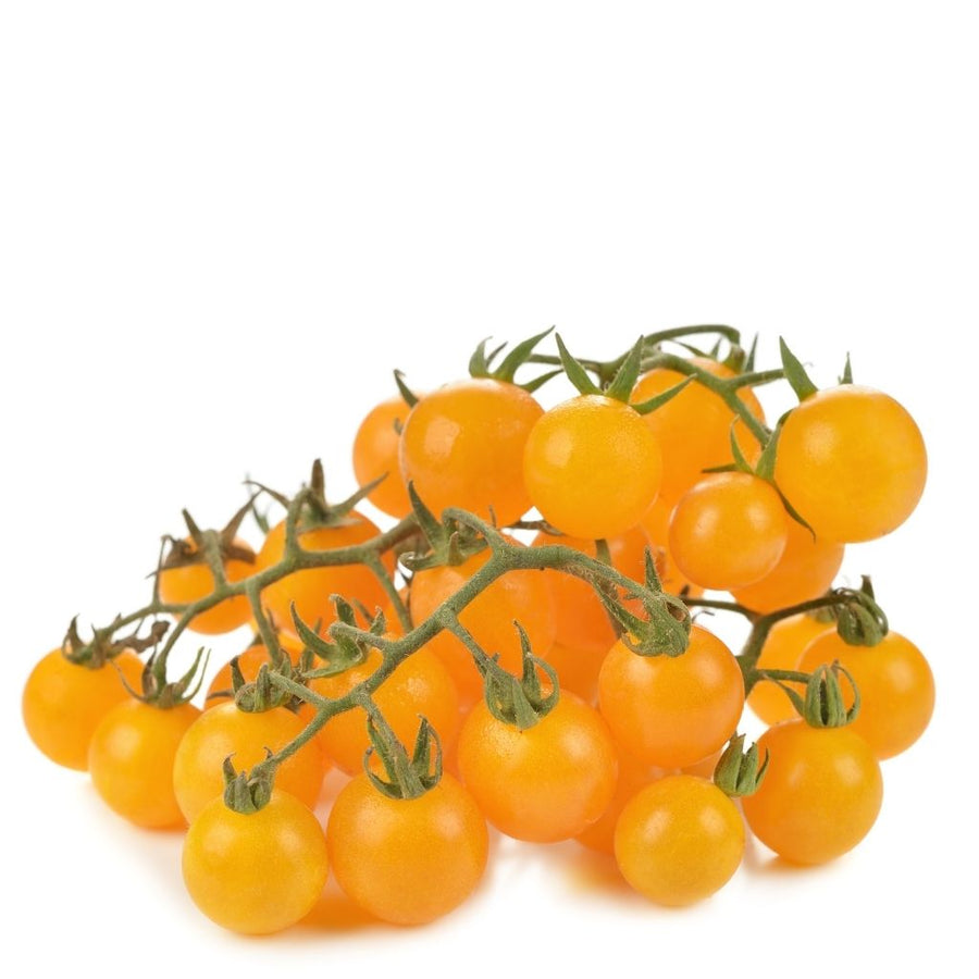 Tomatoes cherry yellow on the vine, 0.2 kg pack - Sharbatly.Club