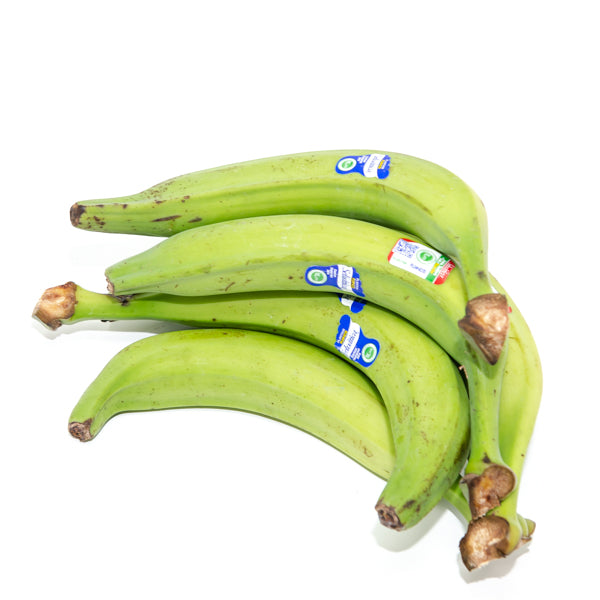 Plantains bananas, green, 1 Kg Pack - Sharbatly.Club
