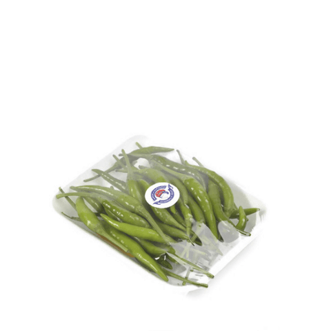 Chilies, baby Thai, Green,  0.1 kg Pack