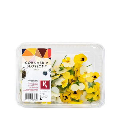 Edible flower Mixed, cornabria blossoms, VIOLA, 2 packs, 100 flowers - Sharbatly.Club