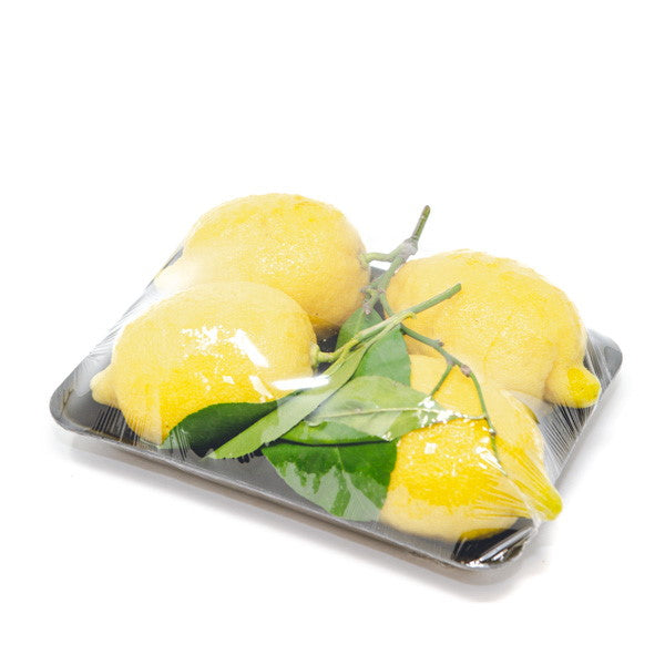 Lemons Amalfi , leafy, thick zest, 1 kg pack - Sharbatly.Club