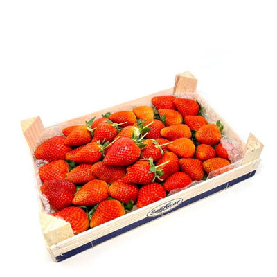 Strawberries , red, 1 Kg wooden box