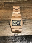 Rectangle Maple Wood Watch