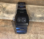 Rectangle Ebony Wood Watch