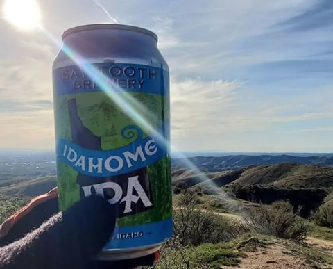 Trail beer in the Boise, Idaho foothills