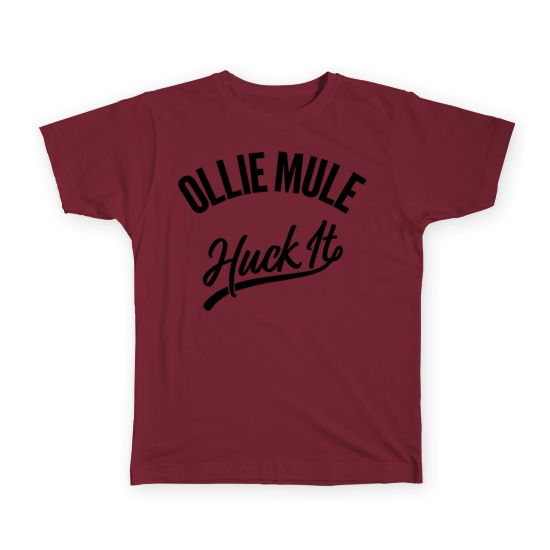 Huck It Tee - Cranberry