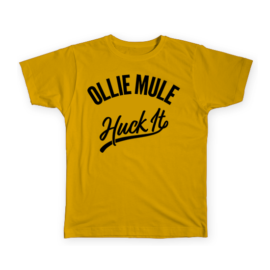 Huck It Tee - Gold