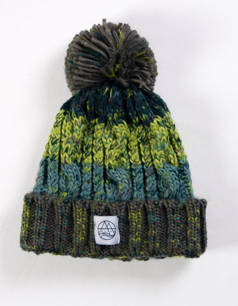 Gorro Curves Pompom Green