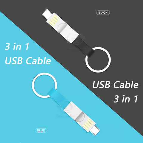 3 in 1 Keychain USB Cable