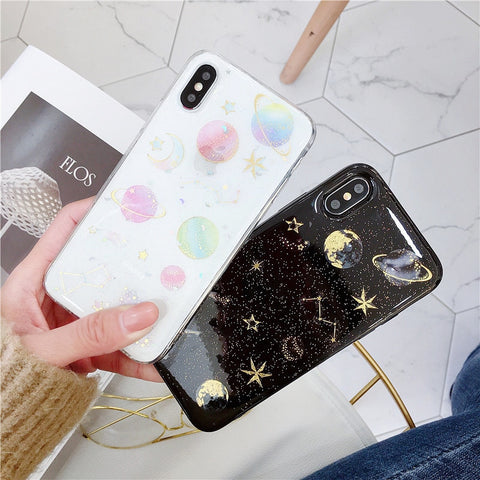 Planet Star TPU iPhone Back Case