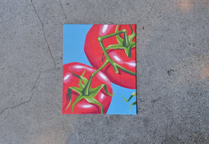 Tomato on Canvas 8x10""
