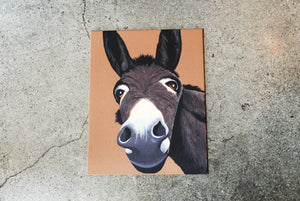 Donkey on Canvas 11x14""