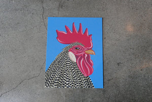 Rooster on Canvas 11x14""