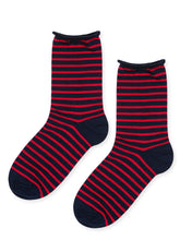 Hansel From Basel - Nautical Stripe Socks (asstd colors)