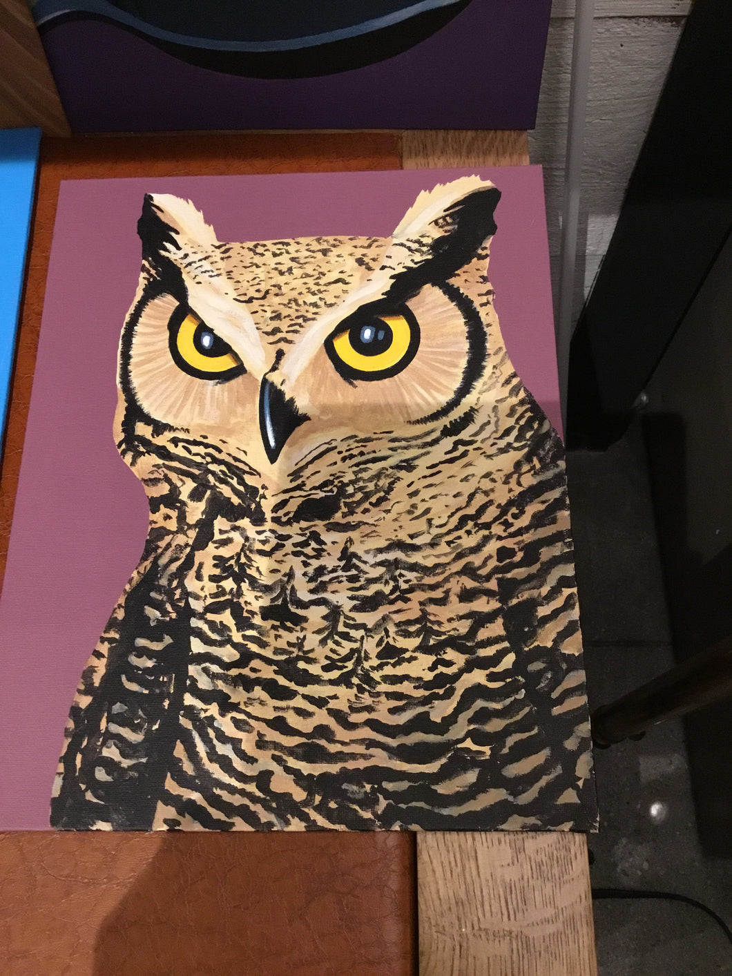 Owl Painting on Canvas 11x14