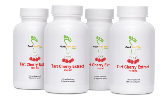 4 Bottles Tart Cherry Extract Dietary Supplement