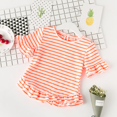 Orange Striped - Flared Top
