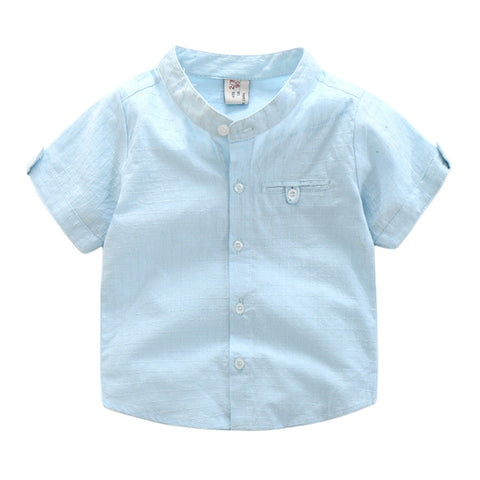 Short Sleeve Shirt ( Light Blue )