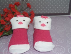 Pink Chic baby booties