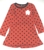 Red polka dot frock dress