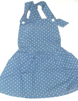Polka Dot - Light Blue - Denim Jump Suit Dress