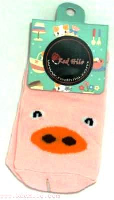 Pink Piggy - Animal Print Socks