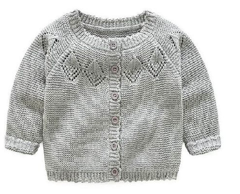 Gray Knitted Sweater/Cardigan
