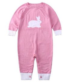 Romper - Pink with white Rabbit
