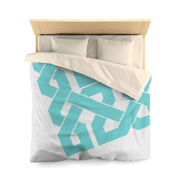 Bedding Queen / Cream Azure Geometric Duvet Cover